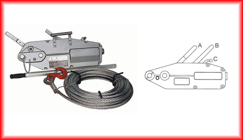 800 kg wire rope pulling winches