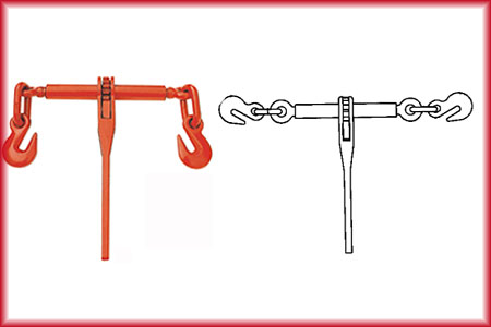 ratchet type load binder with grab hook