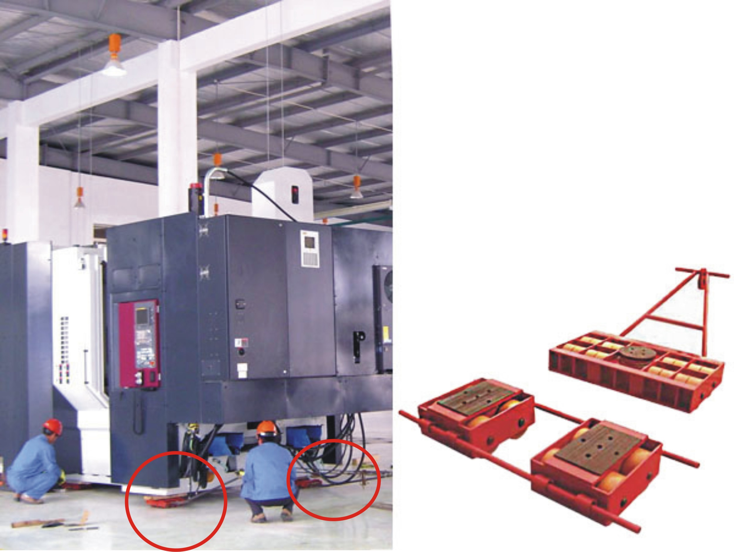 Steerable Machinery Skates Application And Advantages